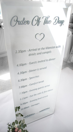 Personalised Mirror Sign