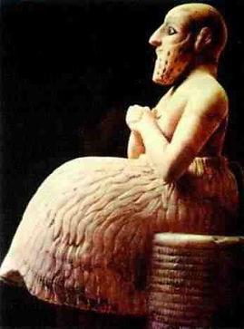 рис 7 Статуя сановника Эбих-Иля из Мари.