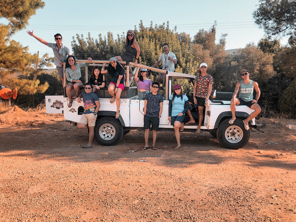 Tour operators take you on these jeep rides and get you into the back roads of Bodrum city.