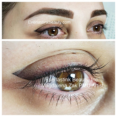 OMBRE BROW, SHADED EYELINER