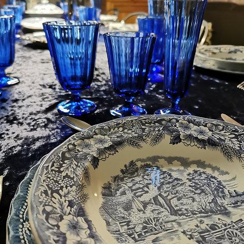 Lot de 6 verres à eau bleu