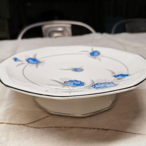 Assiette montée en porcelaine de Limoges