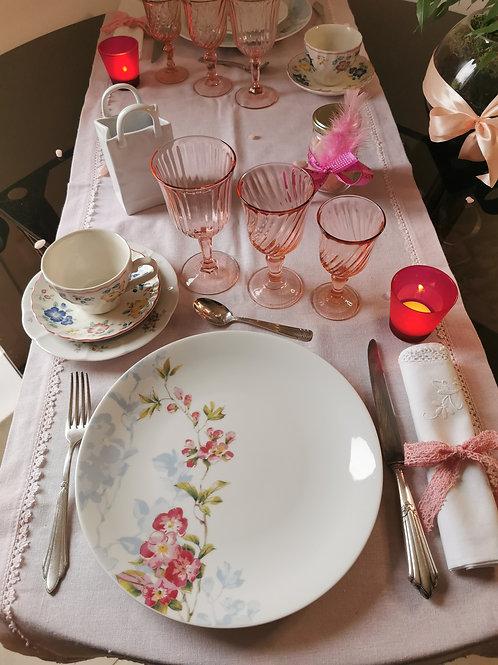Coffret vaisselle Romantique Glamour