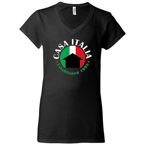 Womans' Fitted V-neck