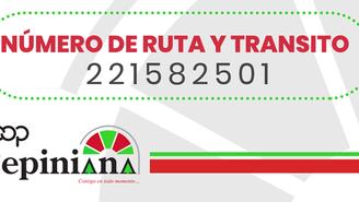 NUMERO DE RUTA Y TRANSITO