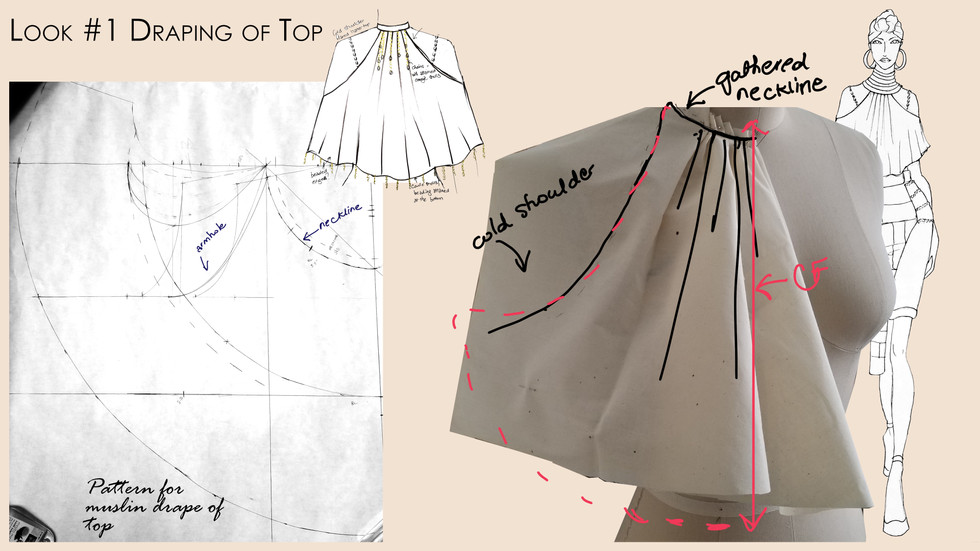 Look #1 Innitial Drape and Pattern