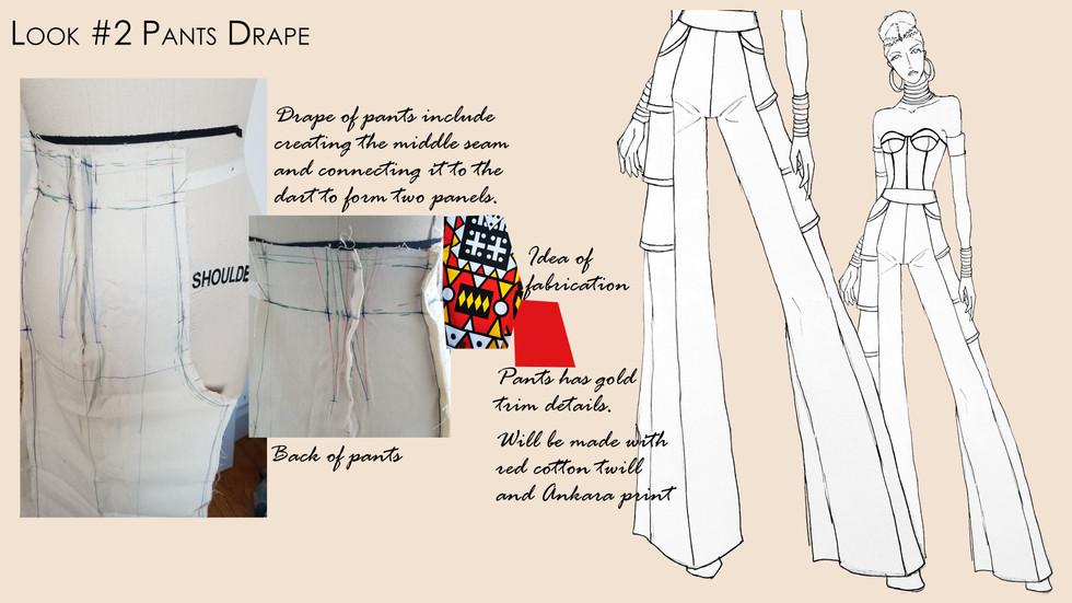 Look #2 Muslin Drape of Pants