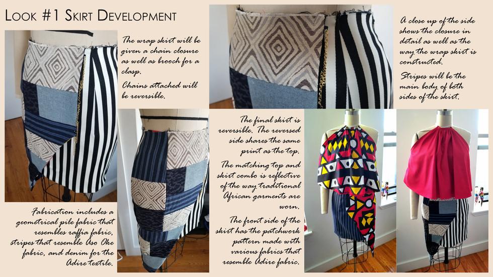 Look #1 Drape of Skirt in Final Fabric