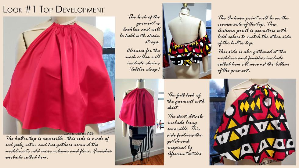 Look #1 Drape of Top in Final Fabric
