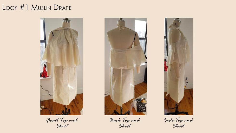 Look #1 Finalized Muslin Drape