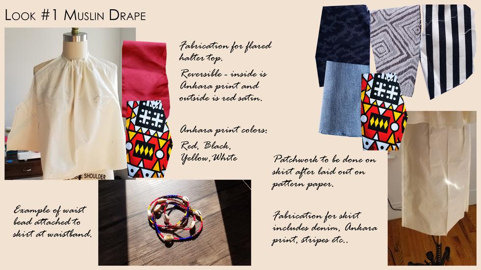 Look #1 Muslin Drape and Fabrication