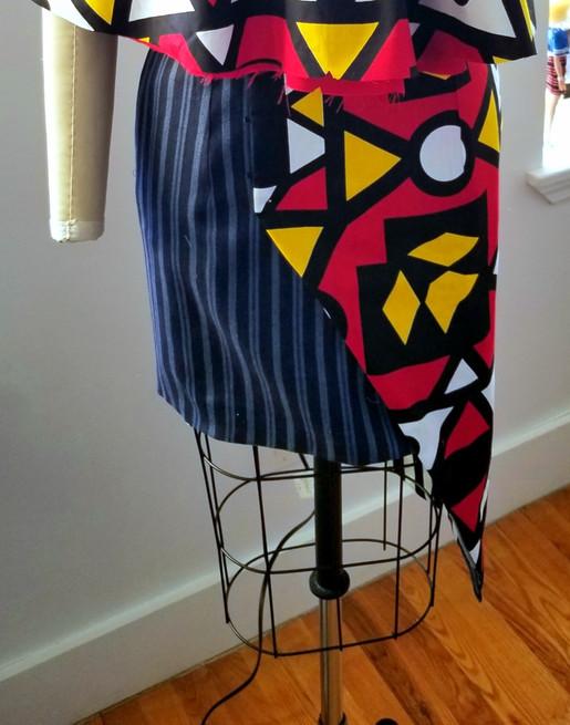 Reversed Side of Wrap Skirt