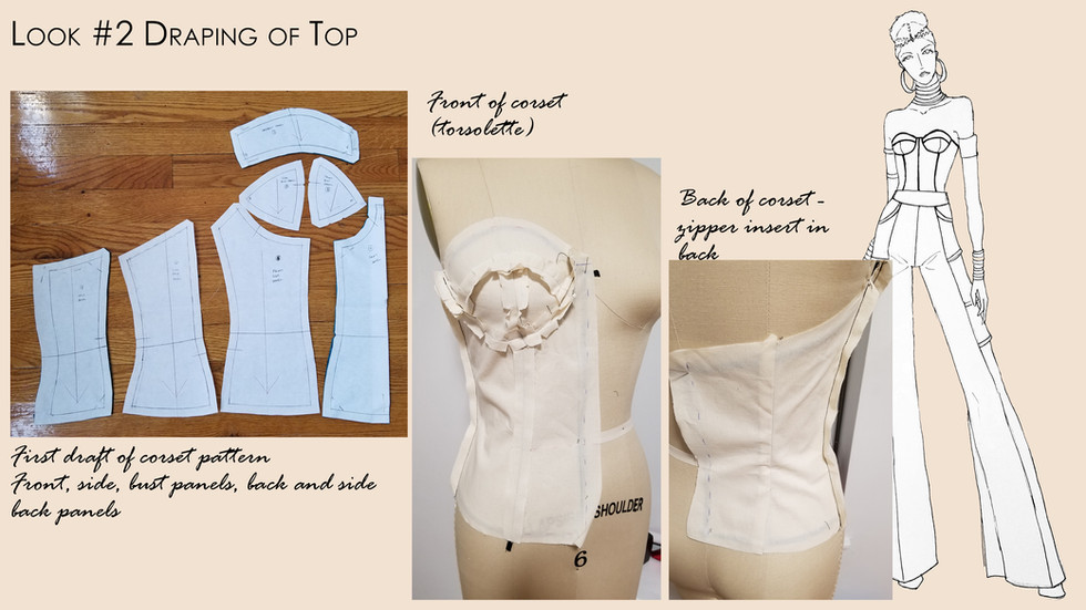 Look #2 Drape and Pattern of Corset
