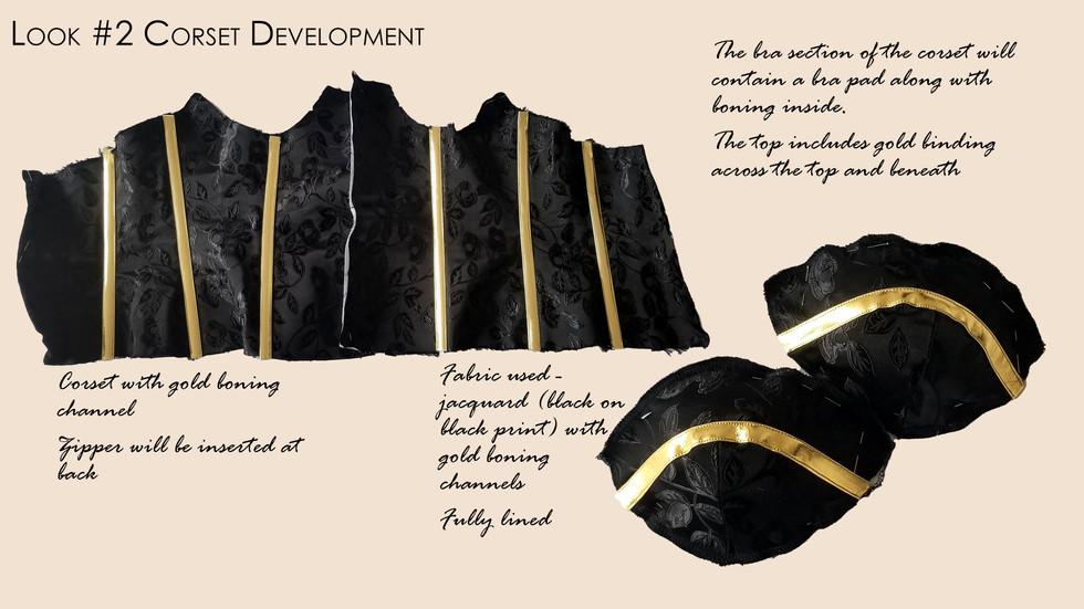Look #2 Drape of Corset in Final Fabric