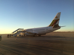My first flight to South Africa