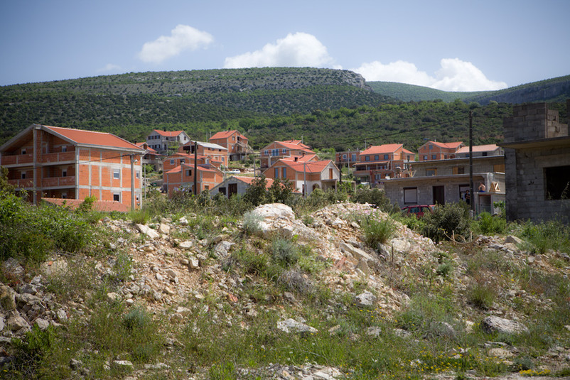 Villaggio dei rifugiati croati, dalla Bosnia, a Gornji Karin.