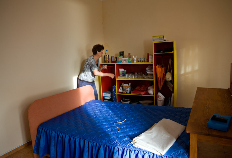 Bosa Lončar nella camera degli ospiti.