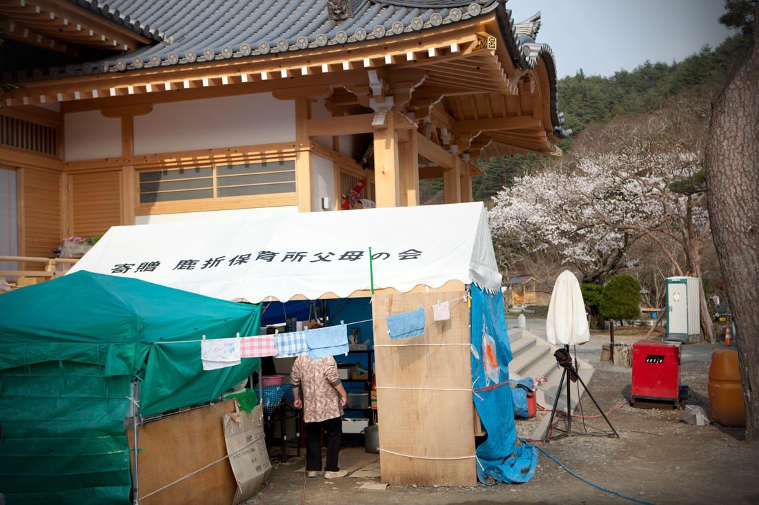 La cucina provvisorio situata nel territorio del tempio