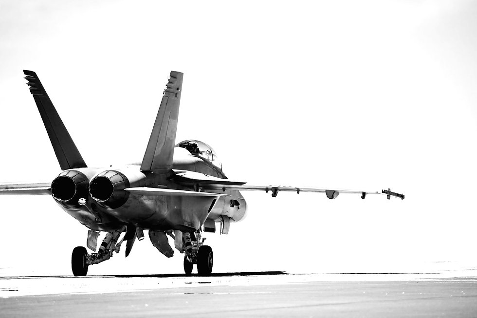 F18 taxiing to runway for takeoff. conve