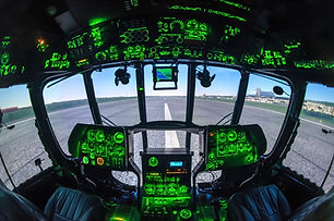Cabine of helicopter simulator.jpg