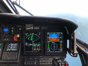 Helicopter cockpit flight instrument pan