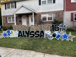 Happy Sweet 16 Middletown, PA Yard Sign Rental