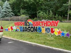 happy 40th birthday Harrisburg PA yard sign rental