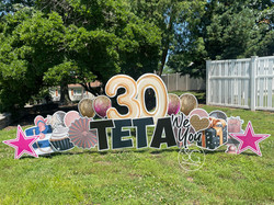 Mega Number Happy Birthday Harrisburg, PA Yard Sign Rental
