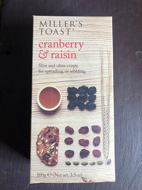 Millers Toast, Cranberry & Raisin