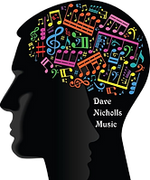 Dave Nicholls Music Text Logo Transparen