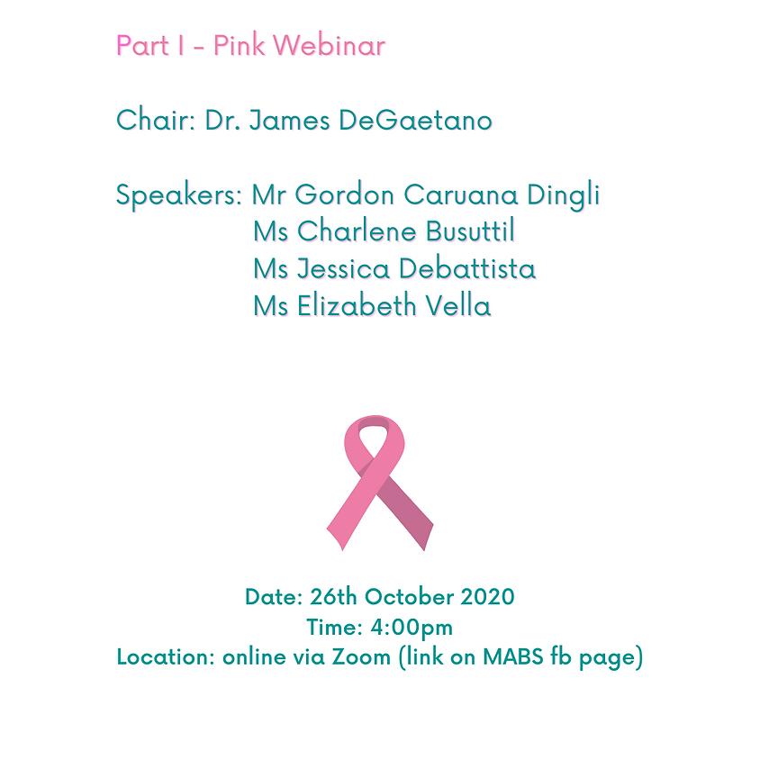 Pink October WEBINAR - 26th October 2020