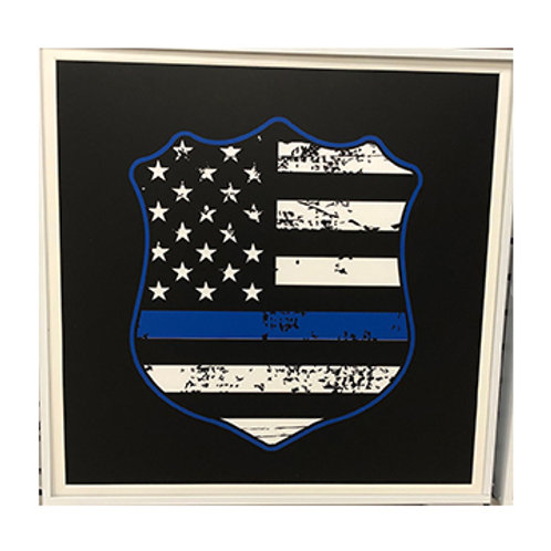 Police Flag LED Sign