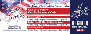 2019 Rodeo Complimentary Ticket Front 5.