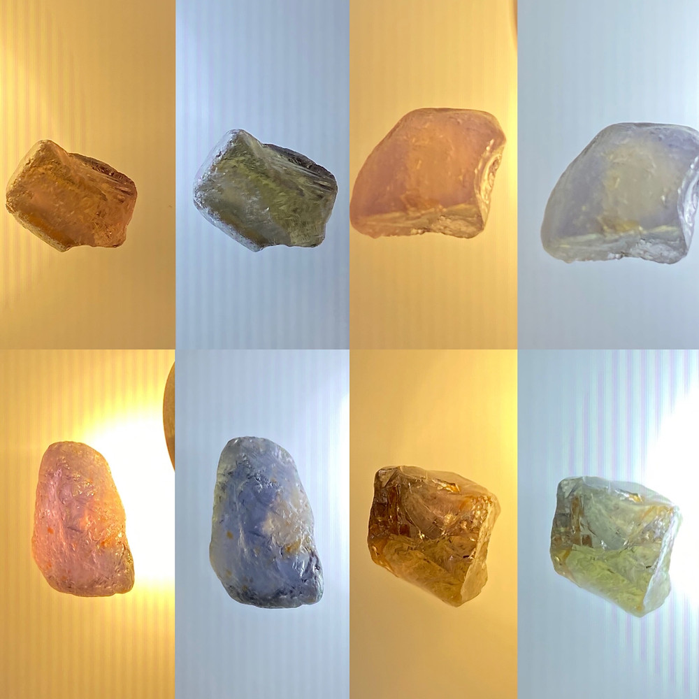 Songea sapphire, songea sapphire rough, color change sapphire