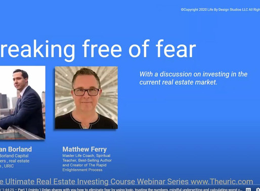Investing in real estate in a recession,  thriving,  mindful underwriting and breaking free of fear