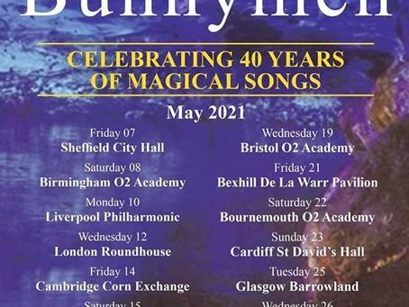 """Echo & The Bunnymen anunciaram turnê de """"40 anos de músicas mágicas""""."""