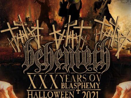"""Behemoth celebrates Halloween with Global Livestream """"XXX Years Ov Blasphemy"""""""