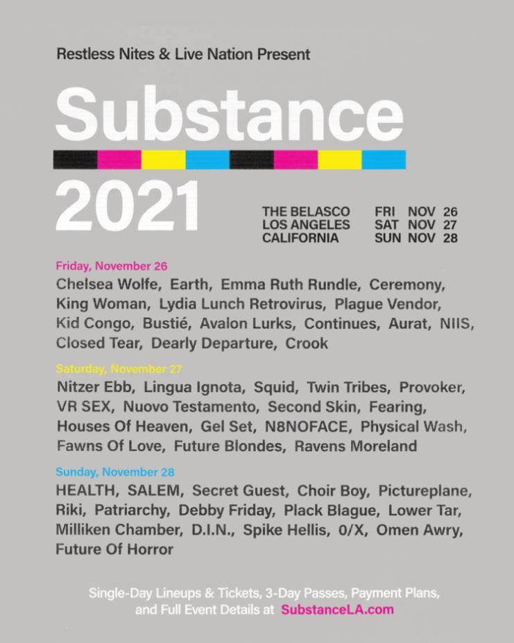 Substance Festival 2021 poster