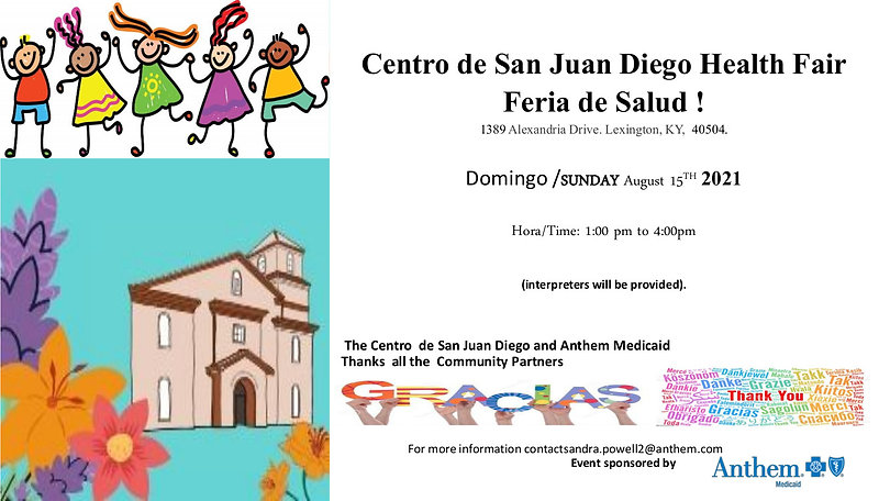 event flyer Health Fair Centro De San Juan Diego LEX 2021.jpg