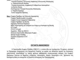 Έκτακτη Ανακοίνωση ΟΜΚΕ:Διακοπή λειτουργίας προγράμματος διερμηνείας Ν.Γ.