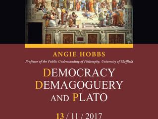 «Η Δημοκρατία, η Δημαγωγία και ο Πλάτων» - Ομιλία στο Εθνικό Ίδρυμα Ερευνών 13.11.17