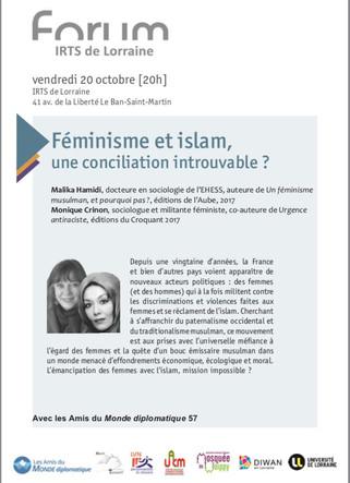 Féminisme et Islam, une conciliation introuvable?