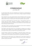 Communiqué 29 octobre 2020