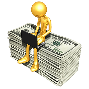 bigstock_gold_guy_online_with_money_6741