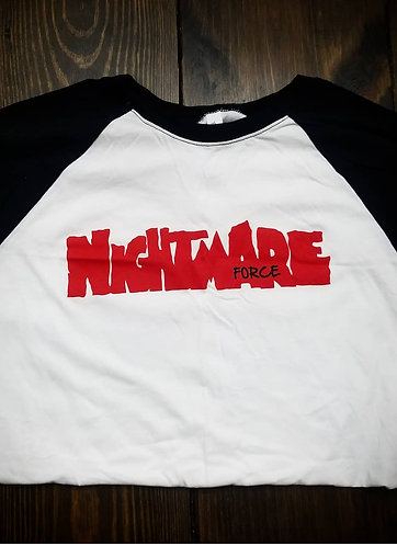 (M)Nightmare on Force street long sleeve Baseball Tees