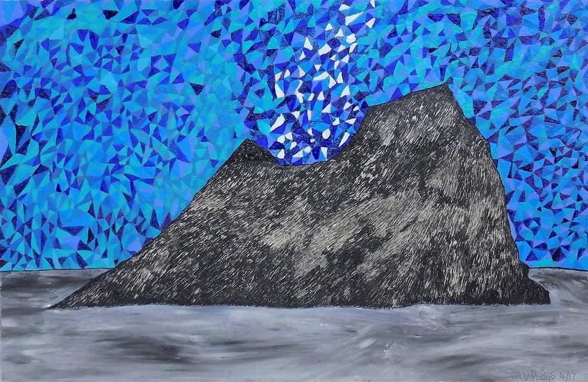 A Blue Fire (framed)