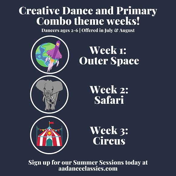 FB & IG -- Space theme CM summer classes