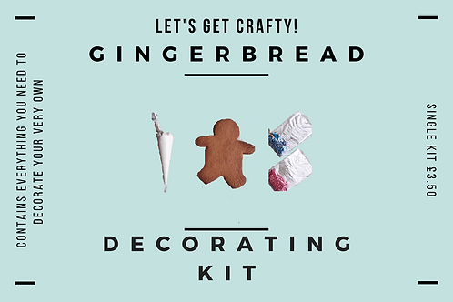 Single Gingerbread Decorating Kit ByPost