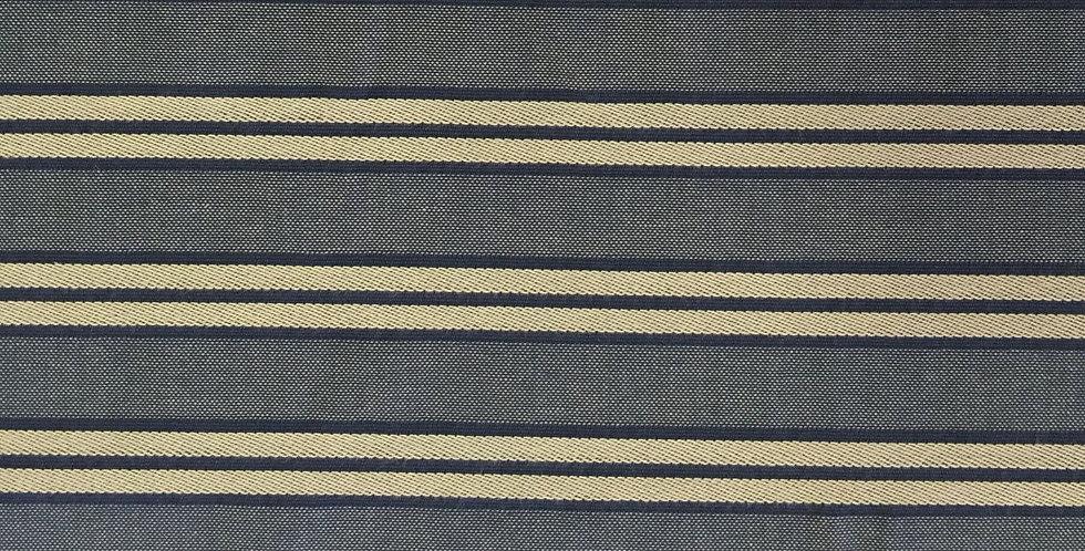 Denim Blue and Tan Stripe