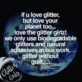 The glitter girlz are eco friendly festi